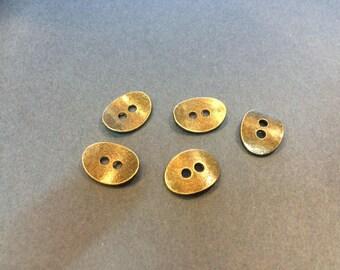 20 clasps buttons 13.50 mm bronze wrap bracelet