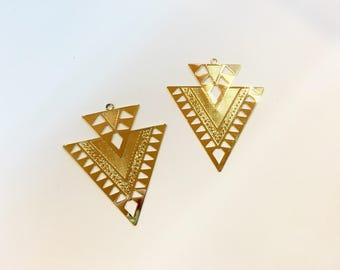 4 prints spacer candlesticks 45x38mm Golden jewellery designs