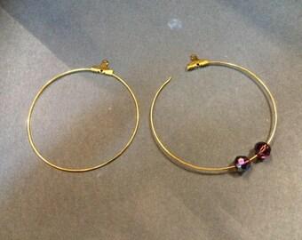 20 hoop earrings 45mm for jewelry designs