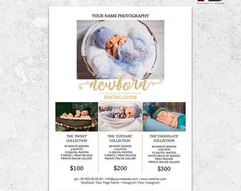 Newborn Photography Pricing Template, Photography Price List, Photography Marketing Template, Pricing Guide, Newborn Photography Packages