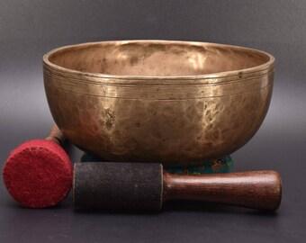 Tibetan Singing Bowl Jambati Hand Hammered Chakra Healing Bowl Meditation bowls chakra Tibetan Singing Bowl