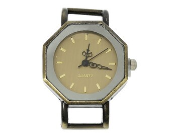 x 1 Dial Watch bronze background gold