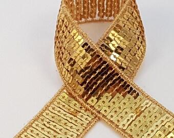 sequin gold braid