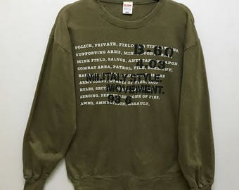 Rare!!! Big John Long Sleeve Pullover Military Style