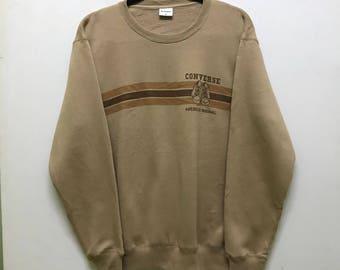 Rare!!! Converse Sweatshirt Pullover Spellout Small Shoes Picture Stripes Multicolors