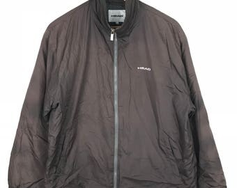 Rare!!! Head Jacket Spellout Embroidery Double Pockets