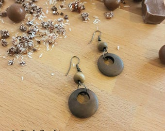 "Earrings ""Chocolate"""