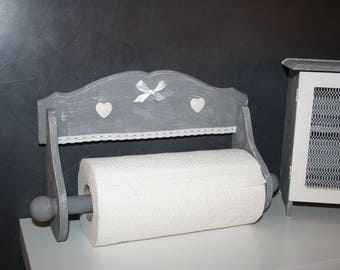 dispenser towel towel gray and white shabby lace