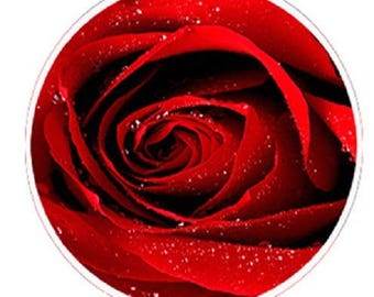 pretty red rose cabochon 1, 25mm