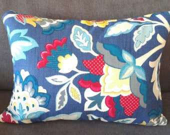 Jewel Toned Pillows/Accent Pillows/Feather Pillows/Down/Pillows/Blue Pillows/Red Pillows/Yellow Pillows/Rectangular Pillows/Throw Pillows
