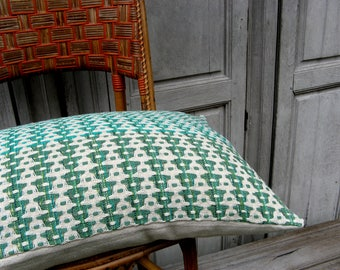 Cushion cover, handwoven in organic cotton/linen, GOTS