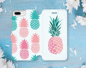 Pineapple Wallet Case iPhone 8 Plus Case iPhone 7 Case iPhone 8 Case iPhone 7 Plus Case iPhone SE Case Wallet iPhone 6s Plus Case CGD2079