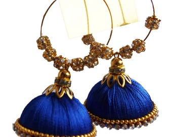 Gunu Handmade premium silk thread Earring