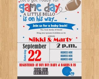 football|sports|baby shower|sprinkle|invitation|invite|digital|printed|diy|new baby|sports theme