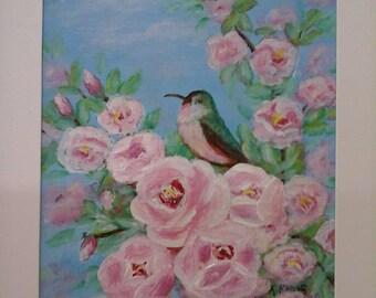 Hummingbirds Amidst Roses