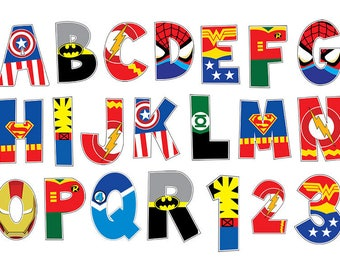 Transformative image intended for superhero letters printable
