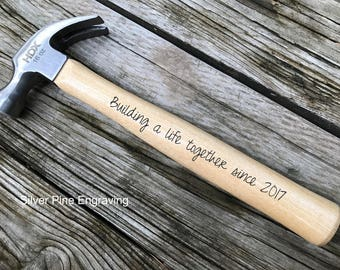 Engraved Hammer Personalized Hammer Housewarming Gift Tool Gifts Groomsman Gift Father Of The Bride Gift Bride To Groom Gift Dad Gifts