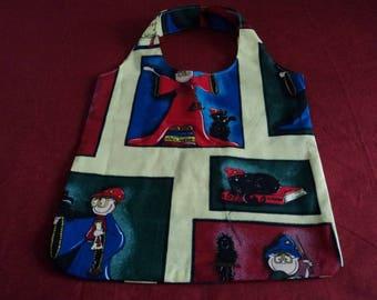tote-bag child or document holder cotton Multicolor