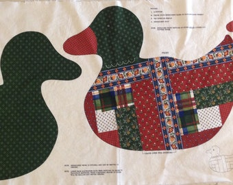 Vintage Duck Fabric Cutout For Stuffed, Embroidered Duck, Cotton Fabric, Novelty Duck Fabric, VIP Fabric, Cranston Print Works