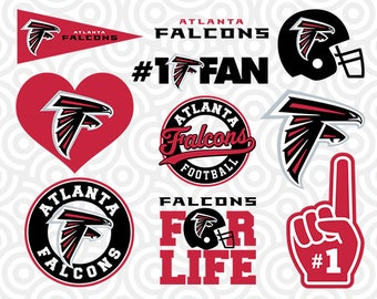 ATLANTA FALCONS SVG Set, Atlanta Falcons Digital Download Files, Football Logos, Die Cut Files in dxf, png, jpg, eps, pdf, S-05