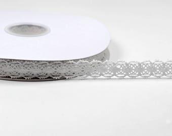 lace trim 18 mm in white 100% cotton colors