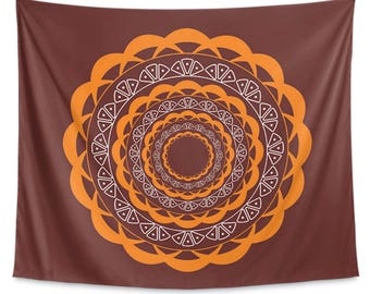 Brown Mandala Wall Tapestry