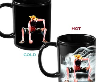 One Piece Luffy Heat Reactive Color Changing Coffee Mug