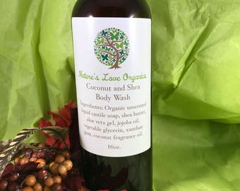 Coconut and Shea Body Wash