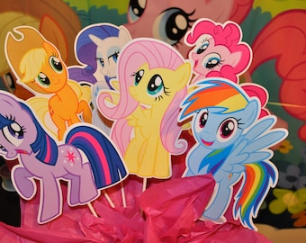 My Little Pony Large Centerpiece toppers sets of 6