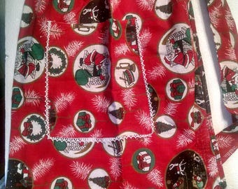 Hand crafted Christmas Apron