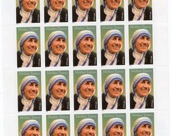 2010 US Mother Teresa Postage Stamps (20) -Mint-Unused-Scott  4475-Full Sheet