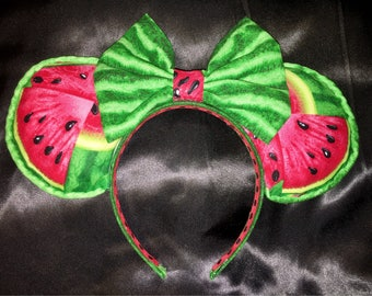 Watermelon Minnie Ears