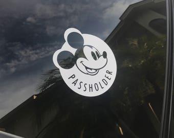 WDW/DL Disney Inspired Annual Passholder Vinyl Car Decal