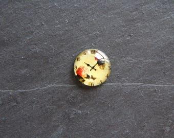 "Cabochon 20 mm ""vintage Style"" clock"