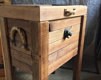 Lion Head Reclaimed Wood Cooler
