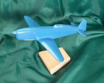 Model plane wood Caudron C 1935 450 made and hand painted