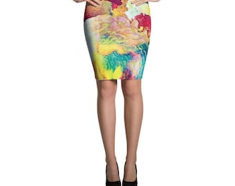 Paint Pencil Skirt