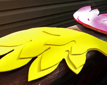 Pink and Yellow Two-Tone Lightweight Three-Layer Angel Wings