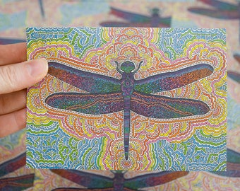 Dragonfly Greeting Card with Envelope