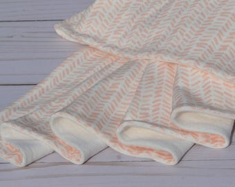 GOTS Certified Organic Cotton Baby Blanket, Organic Cotton Fleece Blanket, Organic Baby Blanket