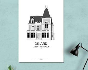 "A3 print/poster/print - Villa - ""Dinard, my love."""
