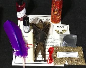 Vampire Bat Ritual Kit Real bat in box - Love, Luck, Money, Success, Power