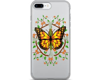 Monarh Butterfly design iPhone 7/7 Plus Case