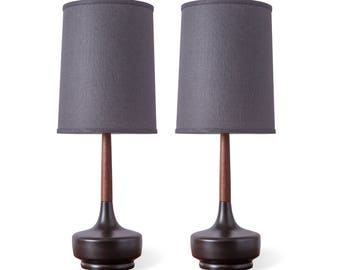 "Pair of Mid-Century Table Lamp ""Brooke - Night Out"""