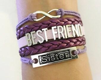 Sister bracelet, Sister Best Friend gift, I love you sister, Sister jewelry, Sister birthday gift, Best Friend jewelry, Friendship Gift