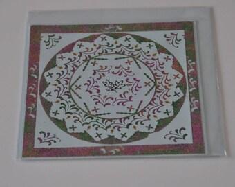 Mandala flower rosettes