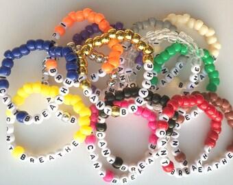 I Cant Breathe Bracelet, Bead Bracelet, Handmade, I Cant Breathe, Activist Support