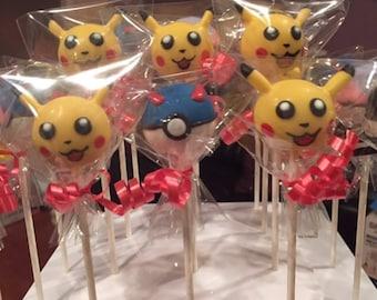Pokemon Themed Cake Pops