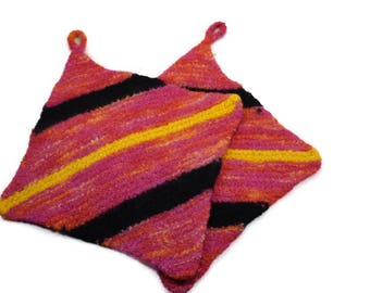 Pair of Wool Felted Potholders