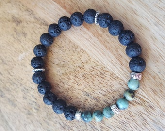 Essential oil diffuser bracelets with any Round Gemstone center